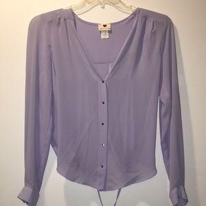 Lavender purple blouse